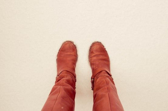 snow and boots | eyes/ears/mouth+lens